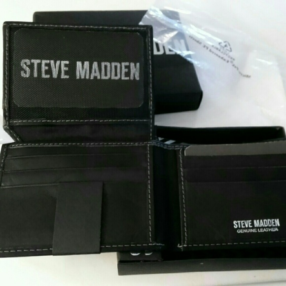 0b81ef207f Steve Madden Bags | Mens Leather Wallet Nwt | Poshmark